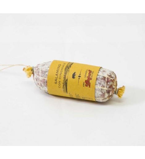 SALAME CON CINGHIALE ( (peso 350 gr circa - prezzo al pezzo singolo)
